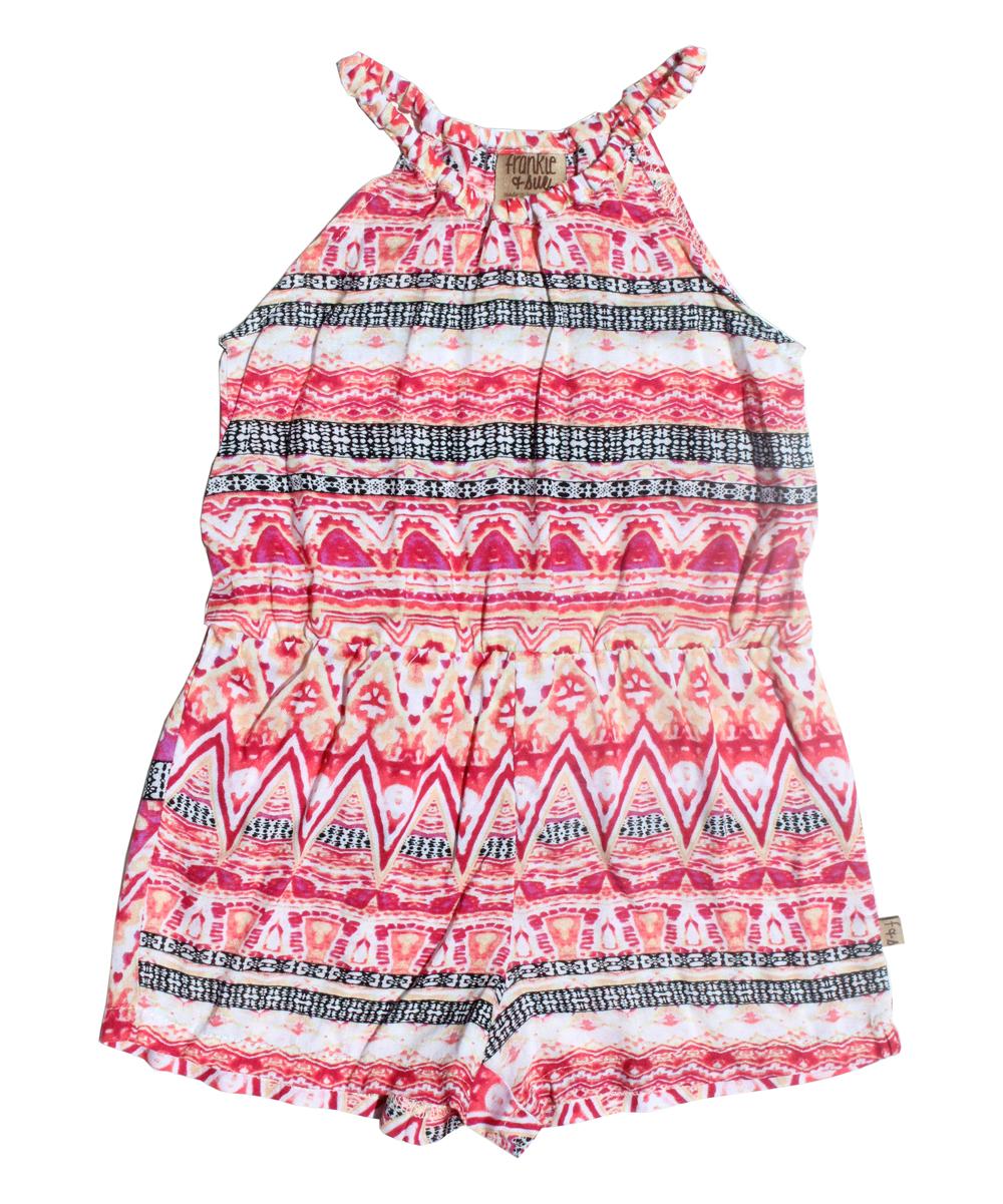 b3a50b69a645 Frankie   Sue Pink Geometric Jordan Romper - Infant
