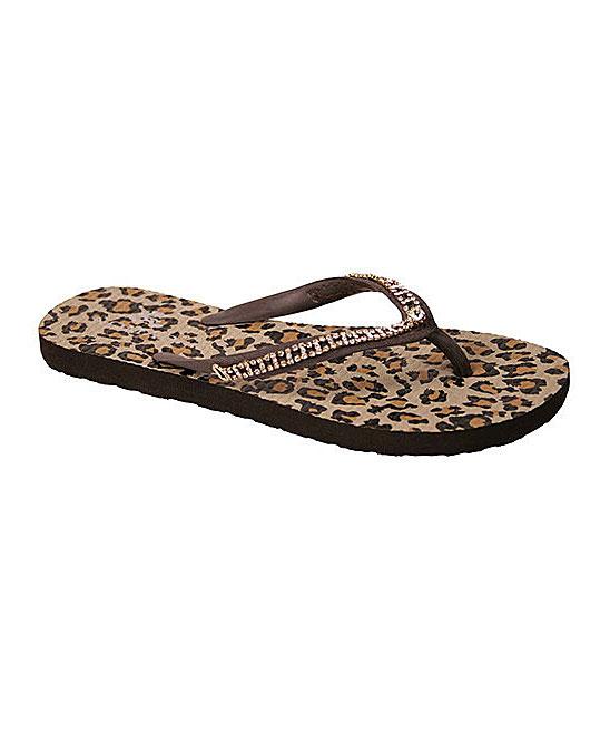 7073bd725373e Nomad Footwear Brown Leopard Sequin Flip-Flop - Women