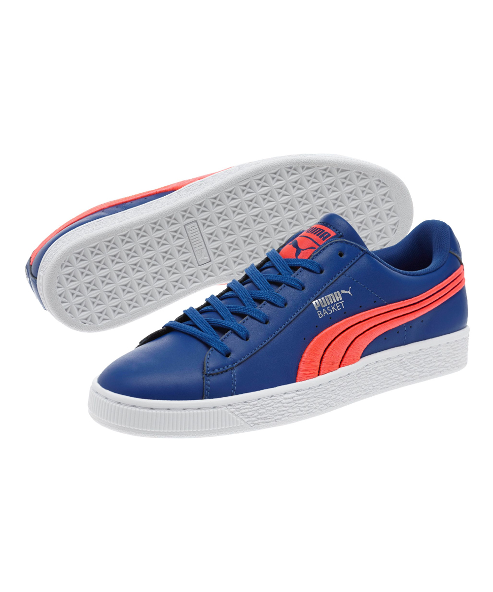 09c528a837b7 PUMA True Blue   Bright Plasma Basket Classic Badge Sneaker
