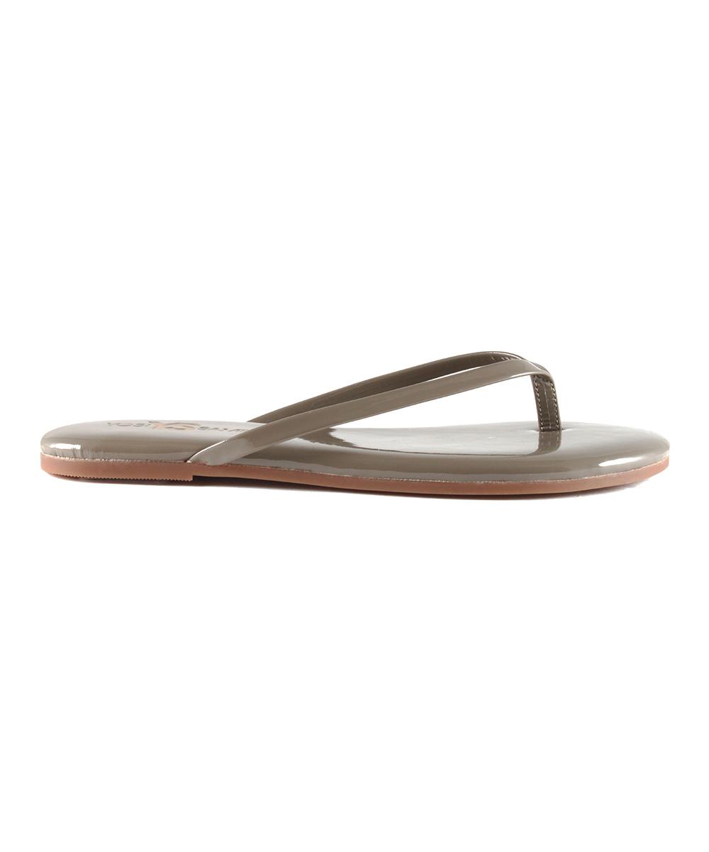 2f3c430ffde09 Yosi Samra Taupe Patent Leather Flip-Flop - Women