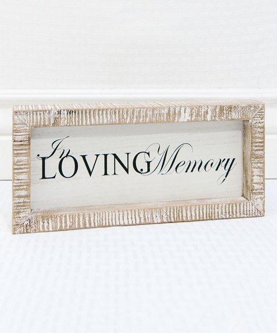 Adams & Co  'In Loving Memory' Wood Framed Sign