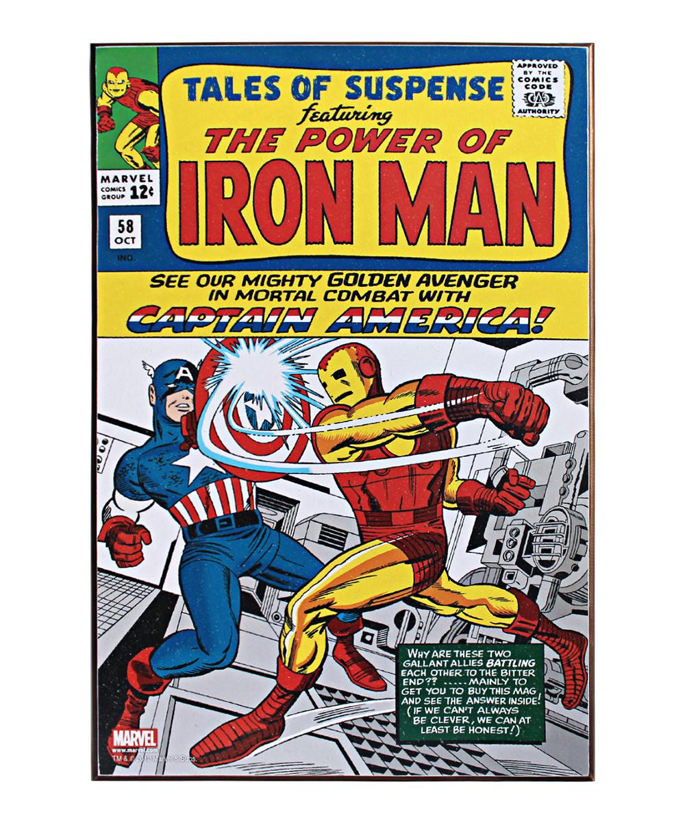 Silver Buffalo Llc Marvel Tales Of Suspense Iron Man Cover Wood Wall Art