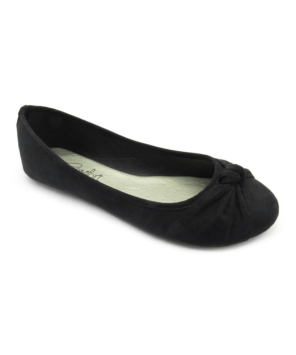 253ad654fe6cf Blue Suede Shoes Black Matte Ziggs Ballet Flat