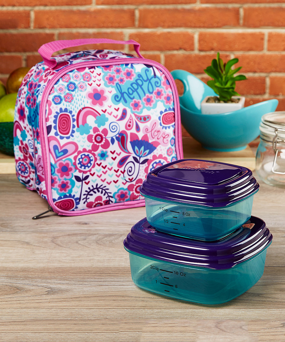 3a79d94fc5c2 Fit & Fresh® Cool Spring Showers Aubrey Insulated Lunch Bag & Container Set