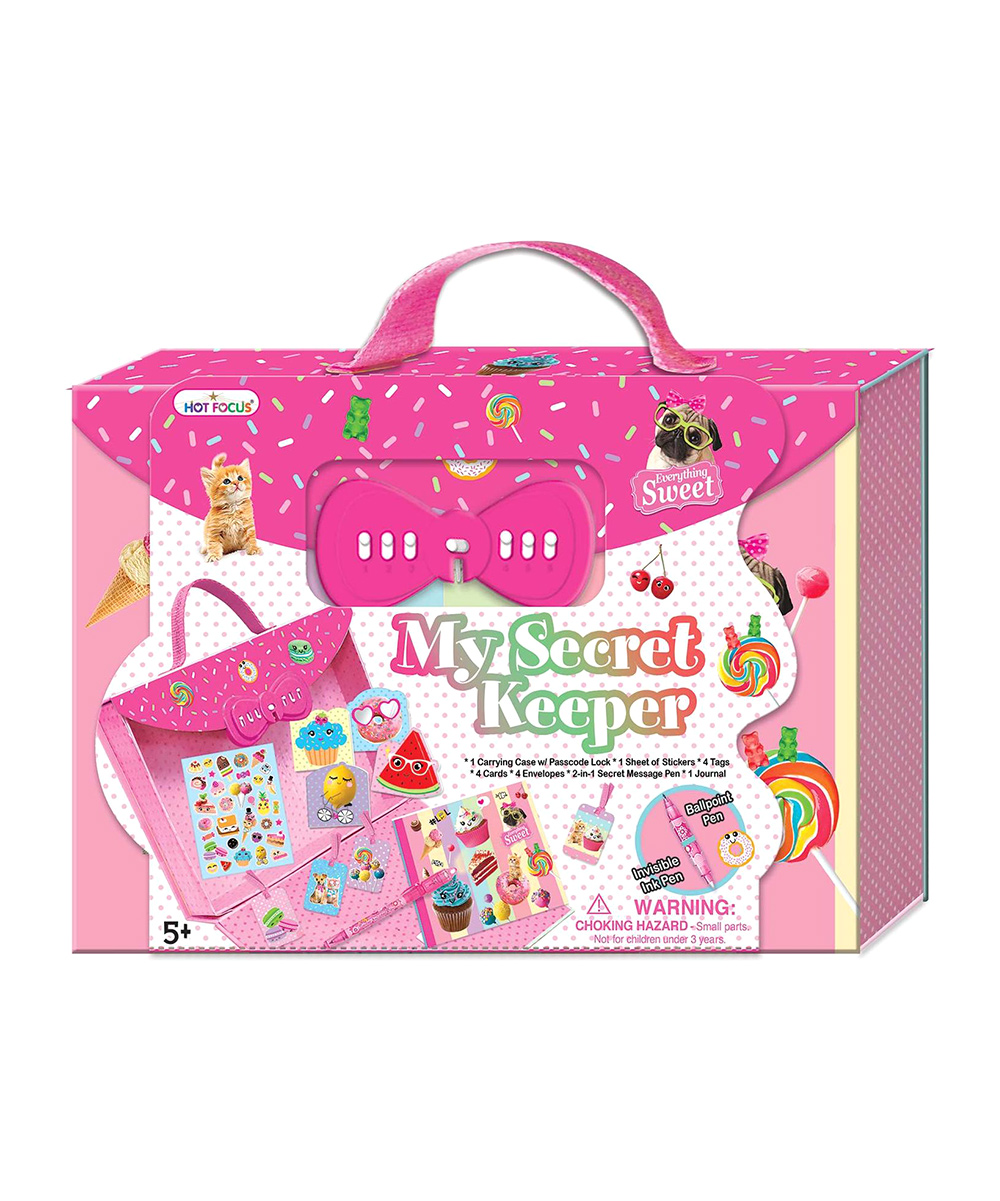 Hot Focus Sweet Crush My Secret Keeper Journal & Sticker Set