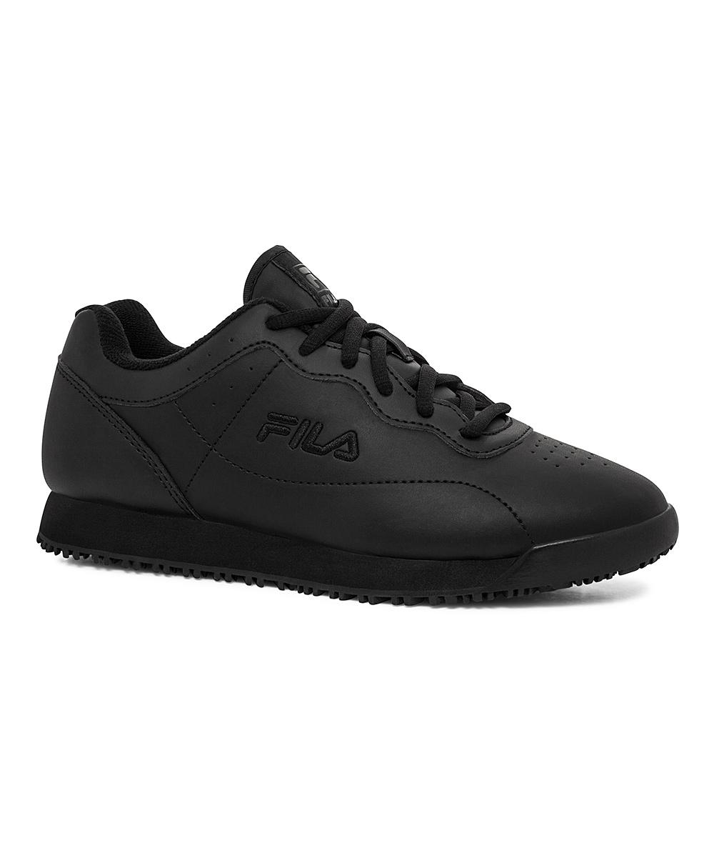 1a97bf06b1 FILA Black Memory Viable Slip-Resistant Work Shoe - Women