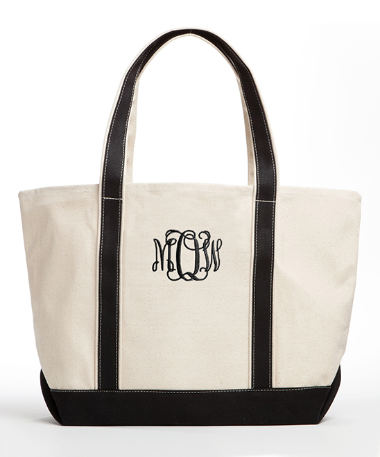 Off-White & Black Monogram Tote