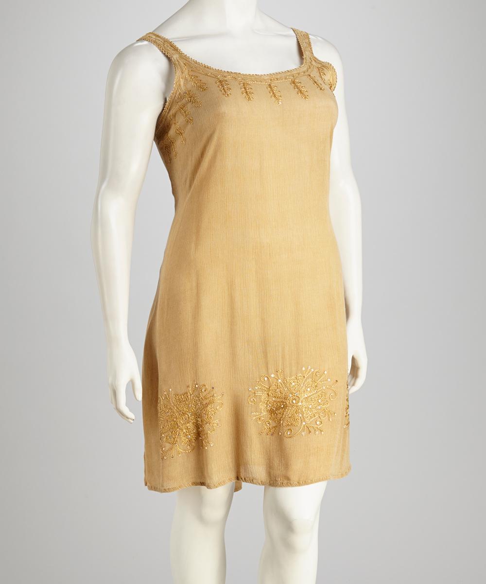 Raya Sun Fawn Acid Wash Plus-Size Dress