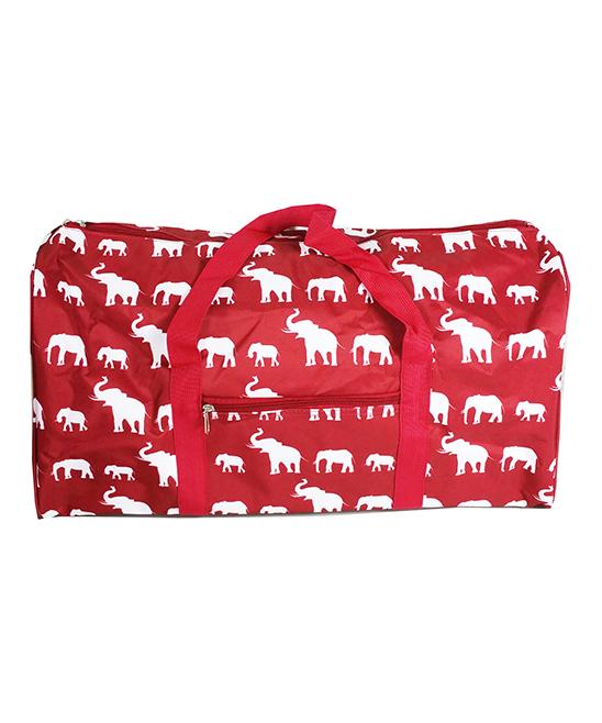 f4c5f0ef26 April Fashion Island Burgundy Elephant Duffel Bag