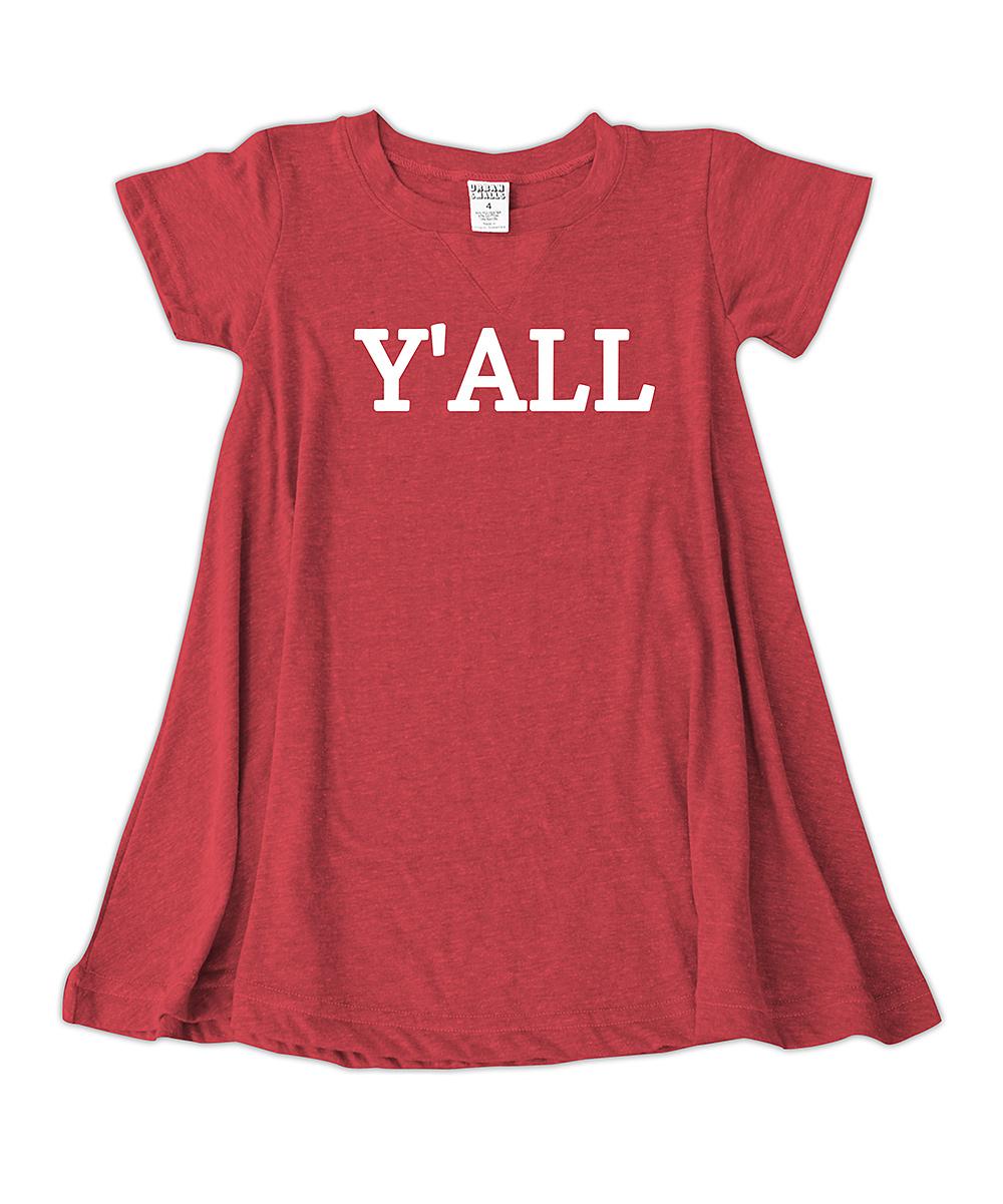 Red Yall T Shirt Dress Toddler Girls Zulily