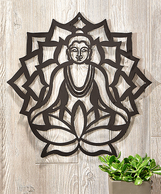 Buddha Iron Outdoor Wall Art