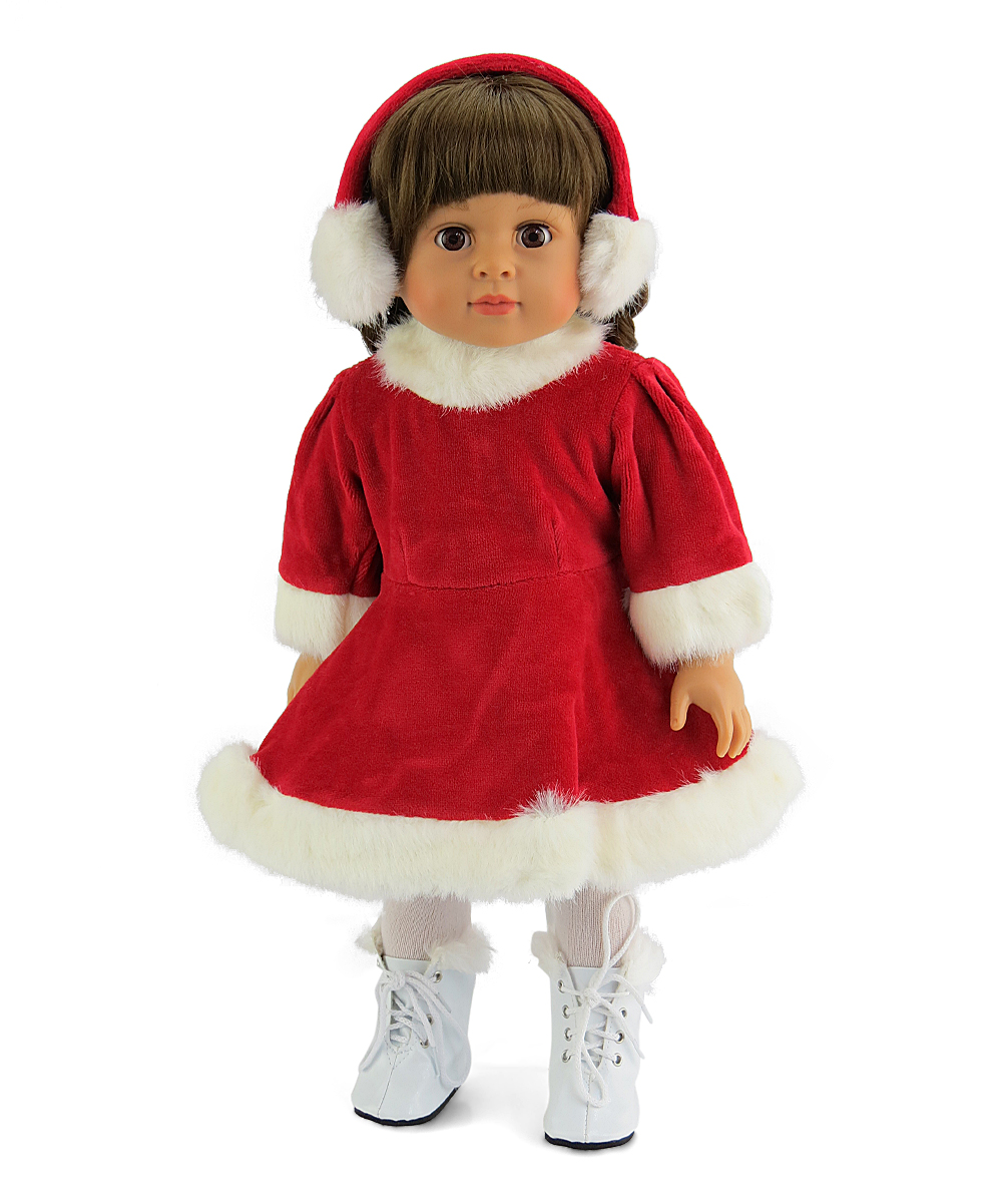 Christmas Ice Skating Costumes.American Fashion World Red Ice Skating Outfit For 18 Doll