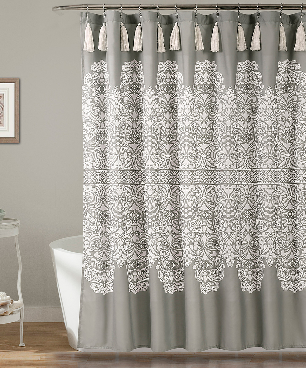Love This Product Gray Boho Medallion Shower Curtain