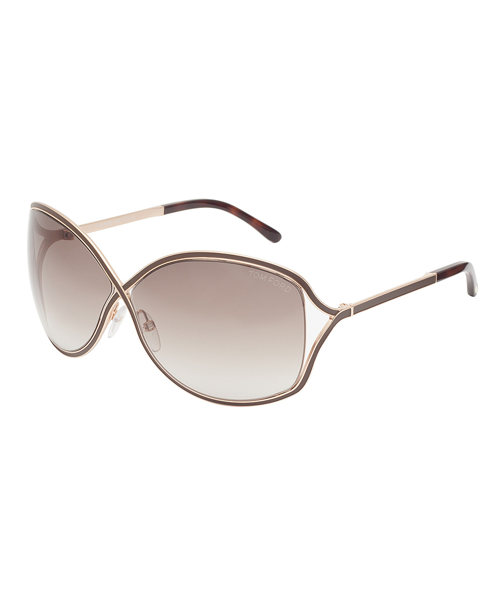 edbf5431cfdea love this product Brown   Gold Gradient Rickie Sunglasses