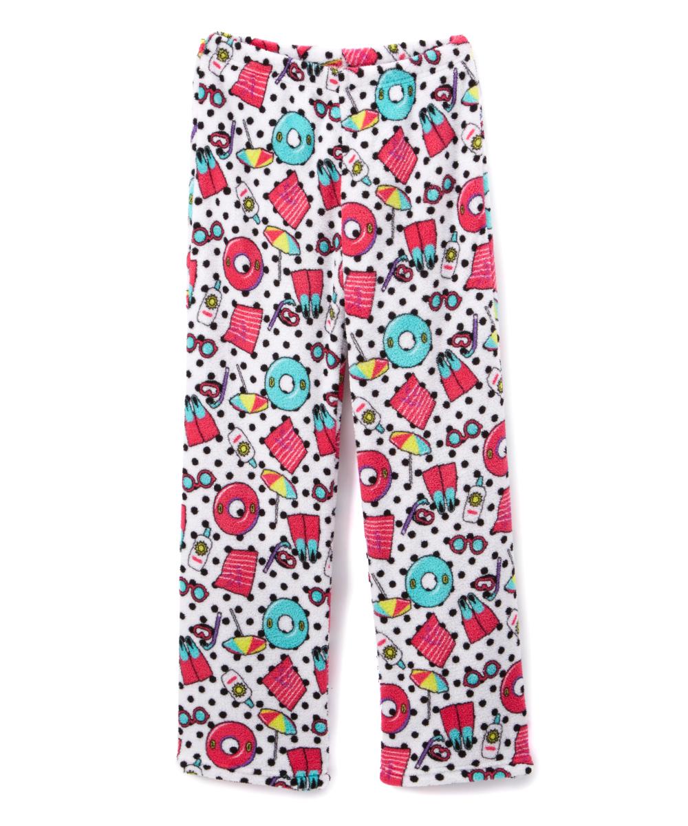 20ddf7de6 So Nikki White Fuzzy Pajama Bottoms - Girls