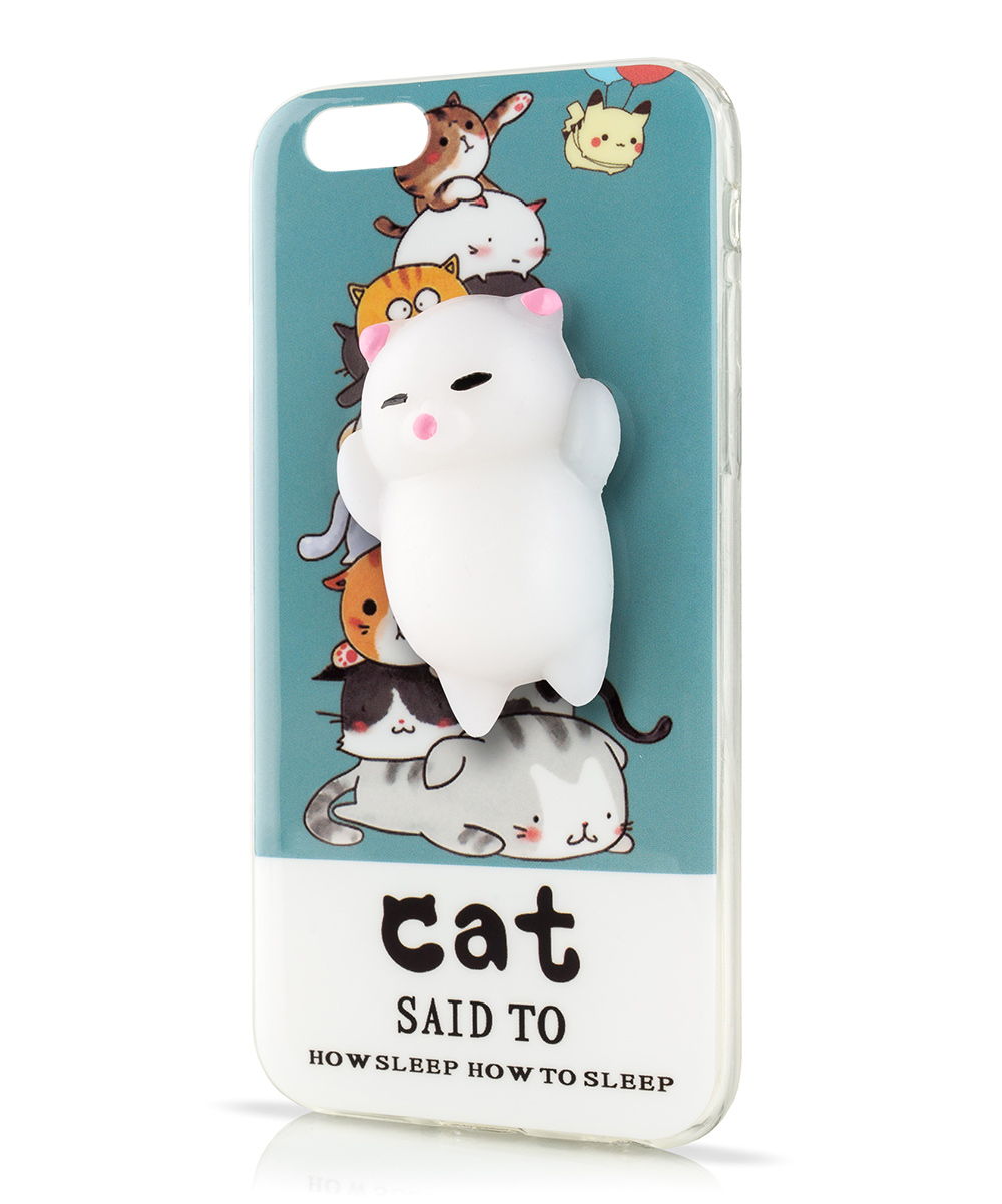 love this product White 3-D  Sleep  Squishy Cat Case for iPhone e137f2e78