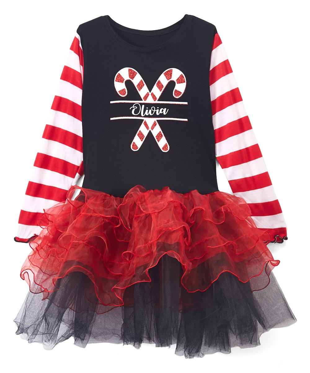 8208bcf49 Beary Basics Red   Black Personalized Tutu Dress - Toddler   Girls ...