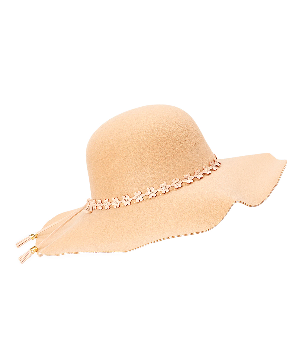 713fe03f3 Camel Flower-Band Floppy Hat