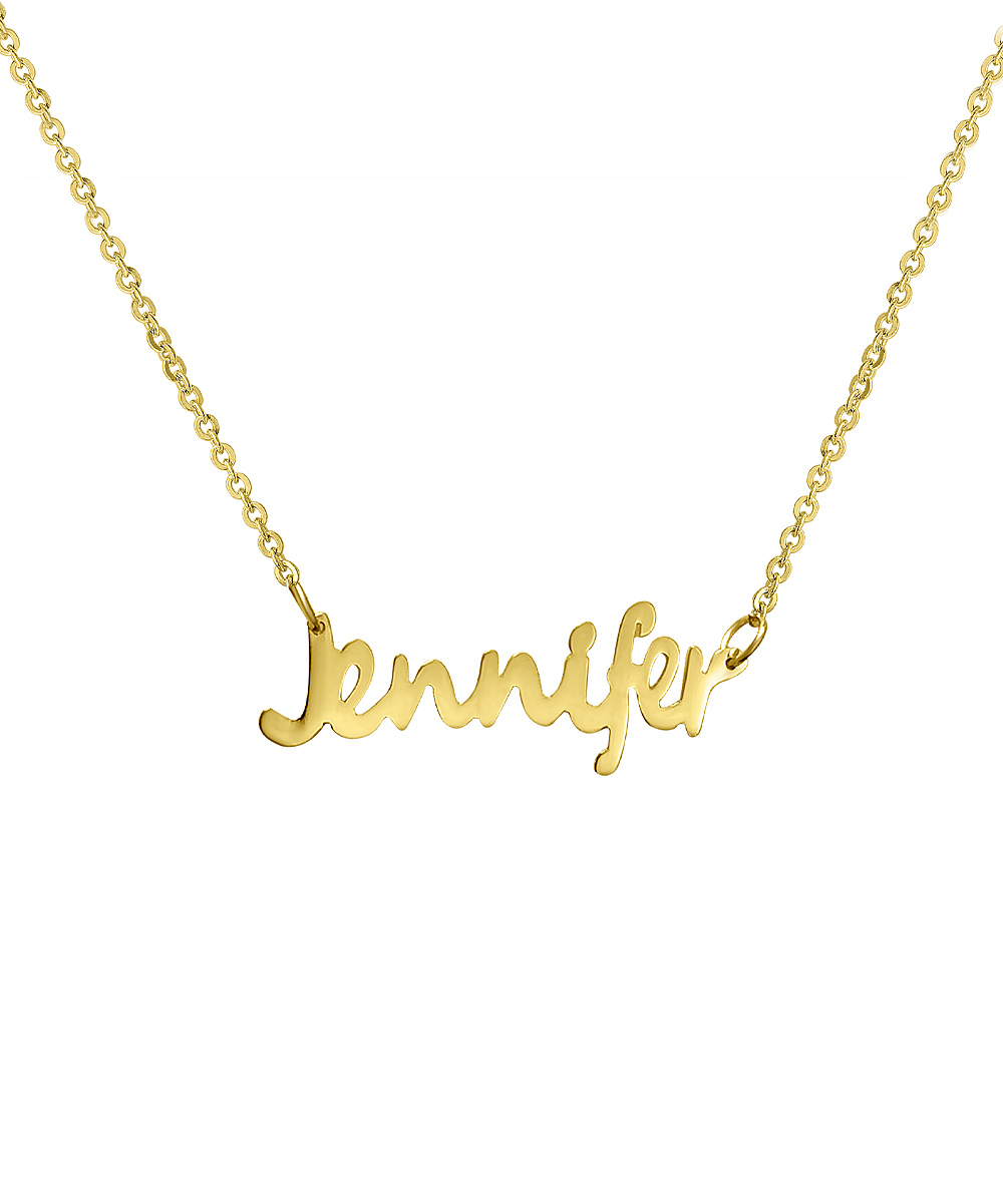 2c7ad9ff73daf NameJewelrySpot 18k Gold Personalized Name Necklace
