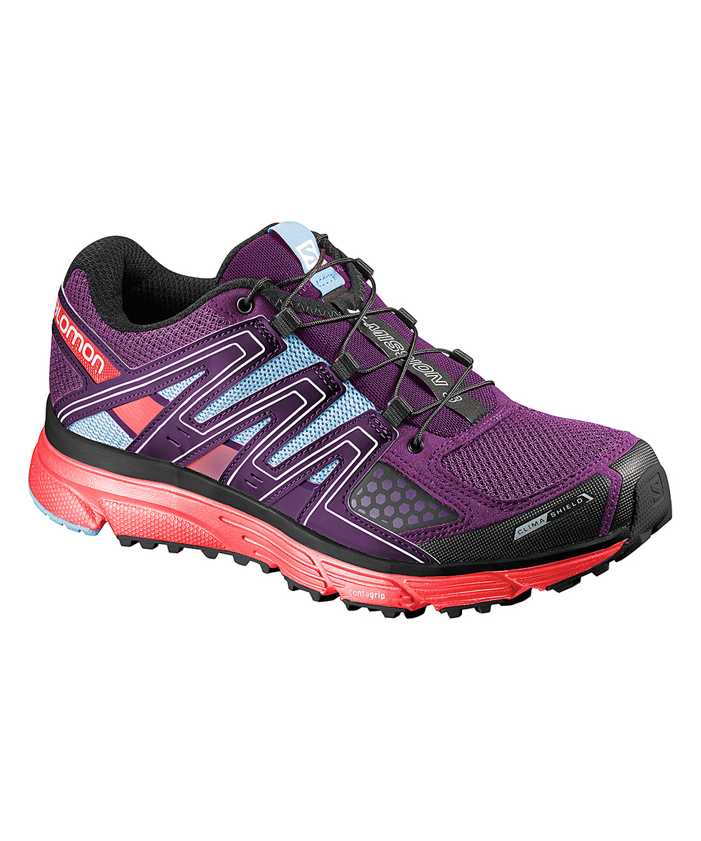 7f18d887b Salomon Passion Purple & Coral X Mission 3 CS Trail Running Shoe - Women