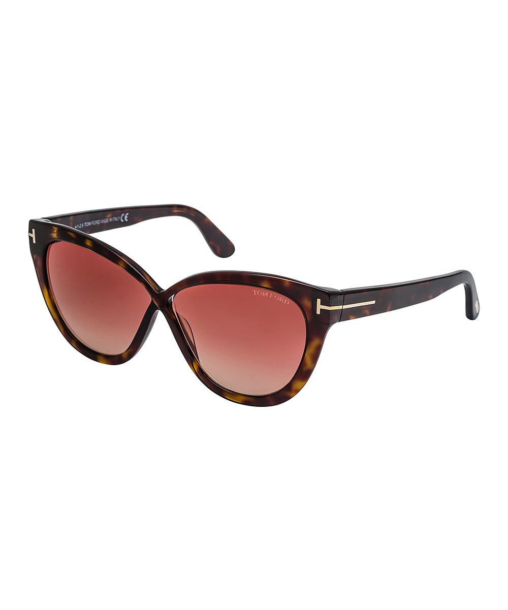 4b2aa4e3aa love this product Red   Brown Tortoiseshell Cat-Eye Sunglasses - Women