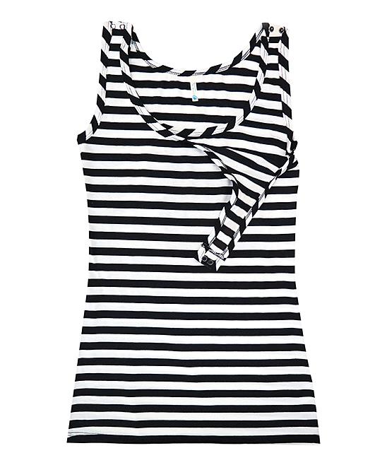 cbc3bd4508be20 love this product Black   White Stripe Maternity Nursing Tank Top