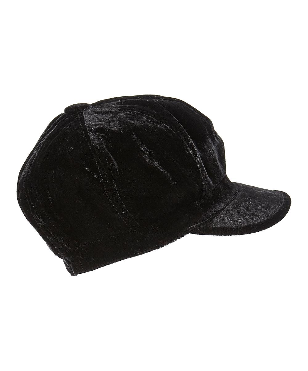 8f581e03 love this product Black Velvet Newsboy Cap