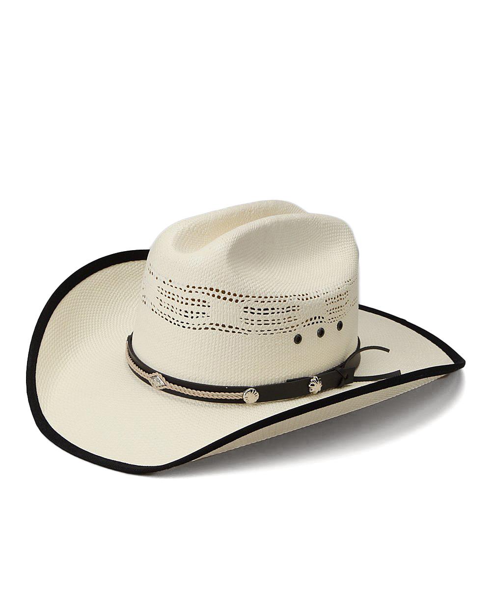 4e20caf30 Western Express Tan & Black Bangora Leather Cowboy Hat - Kids