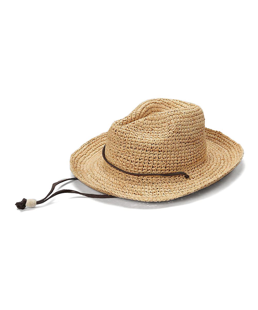 San Diego Hat Company Natural Chin Strap Raffia Cowboy Hat  5a18b32b4dd