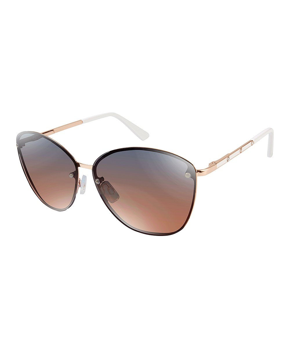 9d01996e263a3 love this product Rose Gold   White Oversize Sunglasses