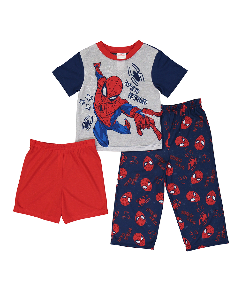 93cd99fe7 love this product Spider-Man Blue 'Web Head' Three-Piece Pajama Set -  Toddler