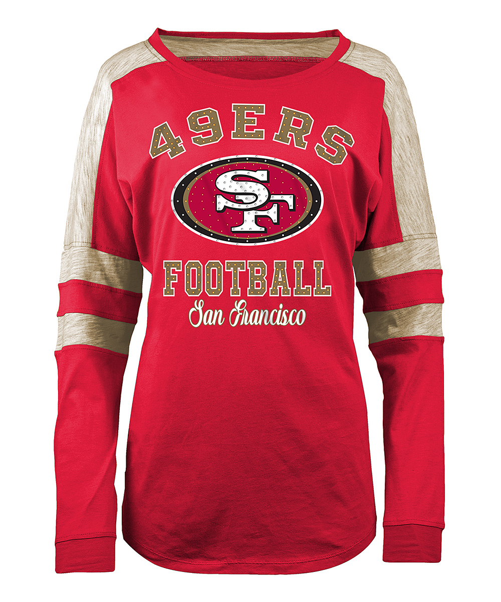 d612abcac38 San Francisco 49ers Womens Long Sleeve T Shirts - Nils Stucki ...