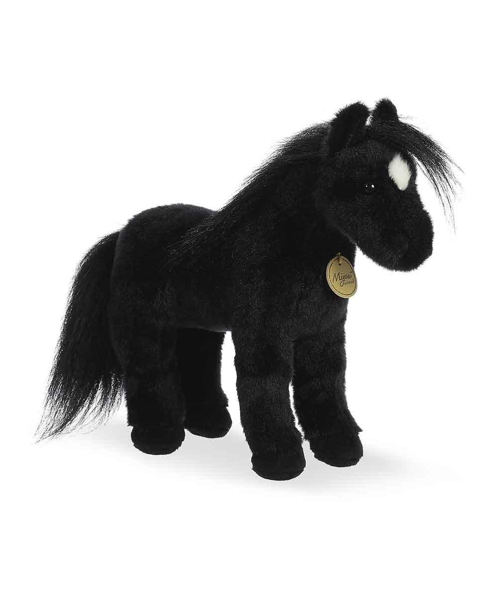 Aurora World 12 Black Horse Plush Toy Zulily