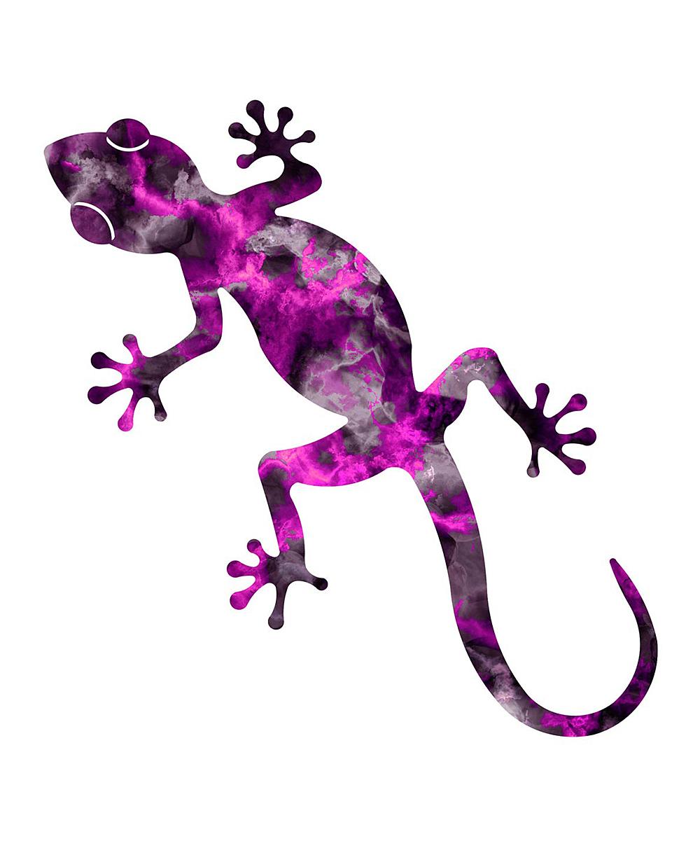 Next Innovations Quartzite Purple Gecko Outdoor Wall Art