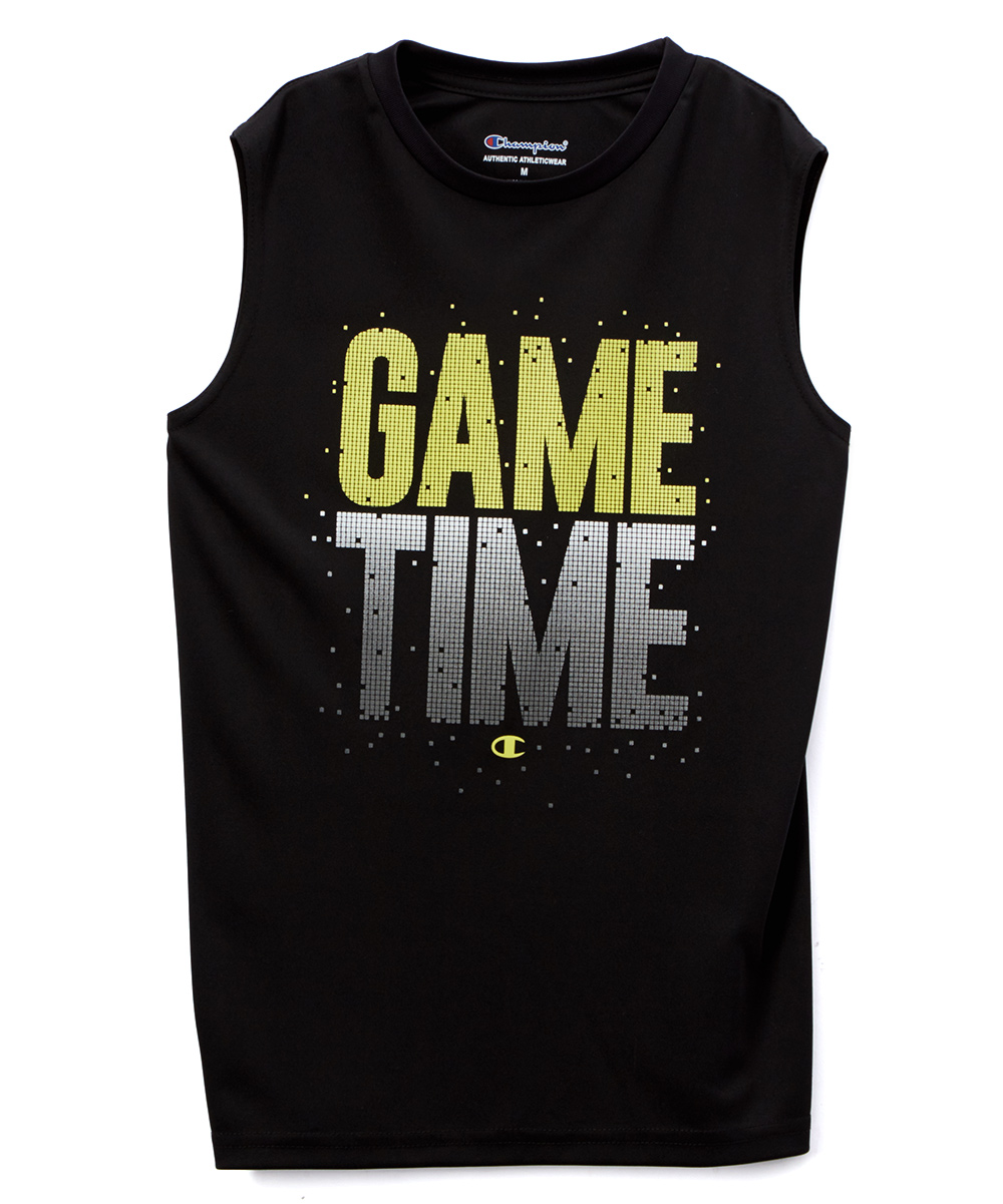 8c4965fc1 Champion Black Game Time Muscle Tee - Toddler & Boys | Zulily