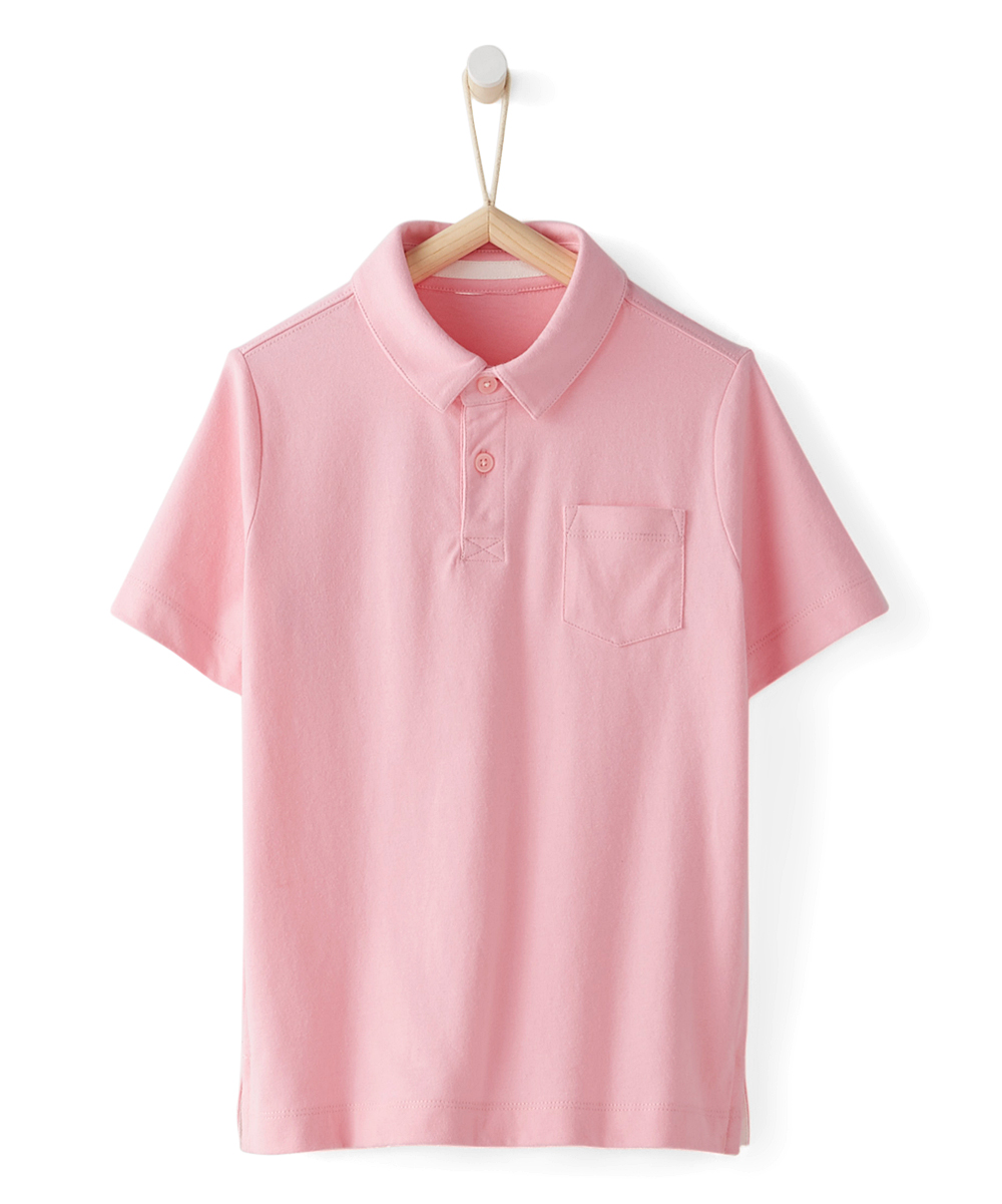 Hanna Andersson Rose Pink Sueded Jersey Polo Toddler Boys Zulily