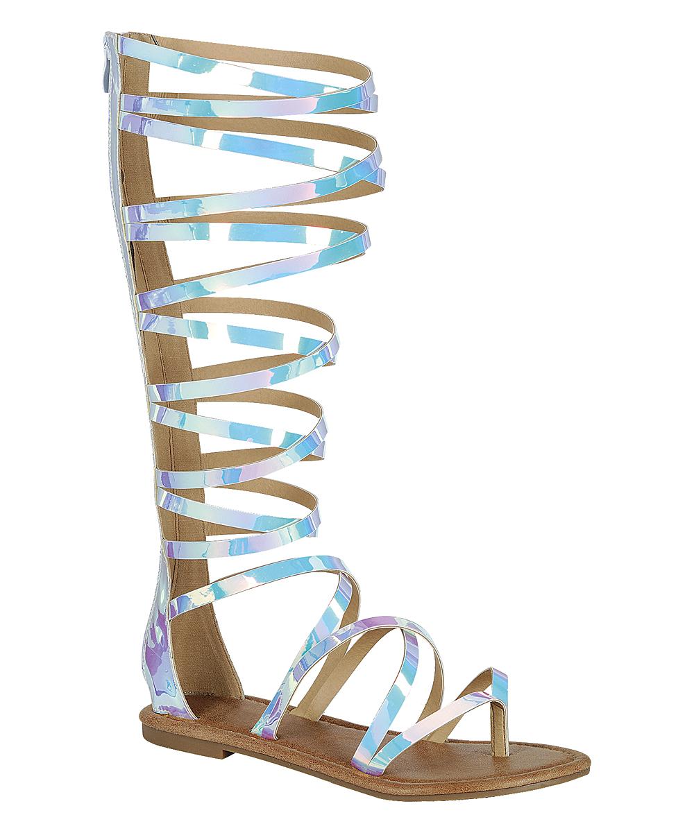 77b6fc1f427 love this product White Cinema Knee-High Gladiator Sandal - Women