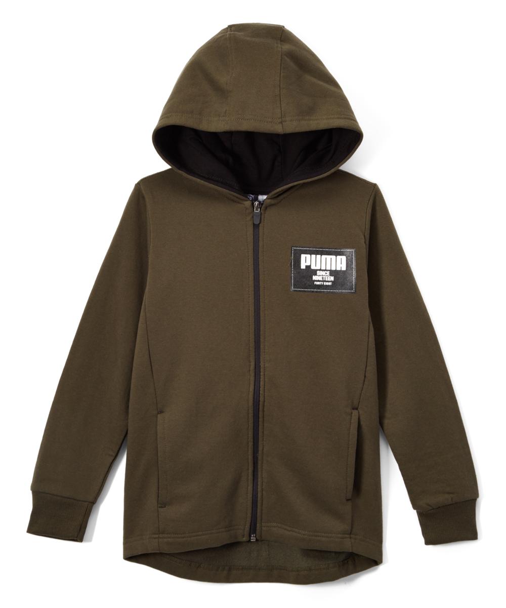 efb1335def2f PUMA Forest Night Puma Zip-Up Pocket Hoodie - Boys