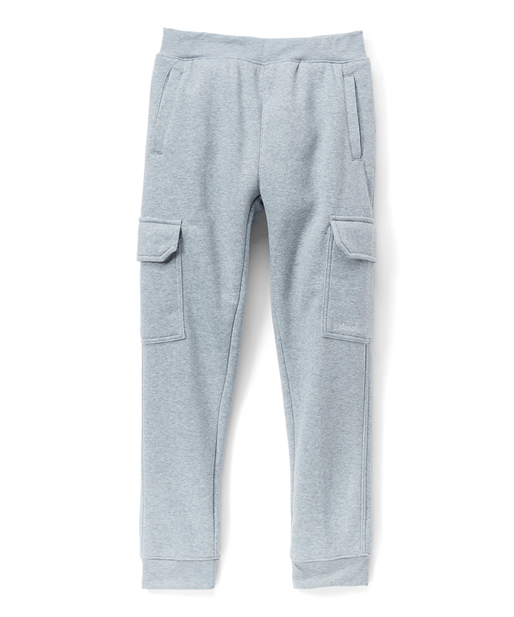 8d813dd95 Avalanche Gray Heather Fleece Cargo Sweatpants - Boys