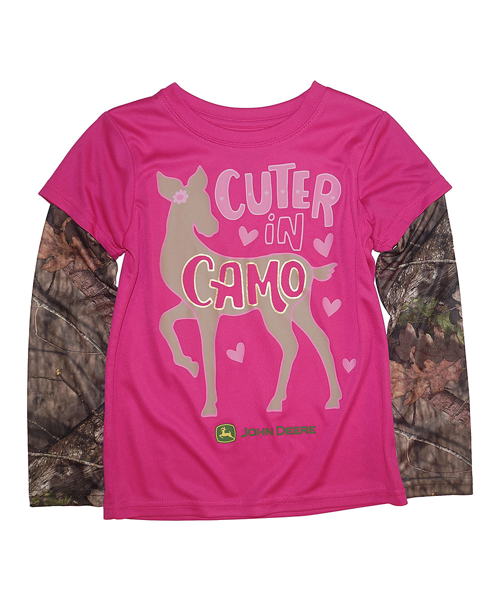 John Deere Mossy Oak Cuter In Camo Tee Girls Zulily