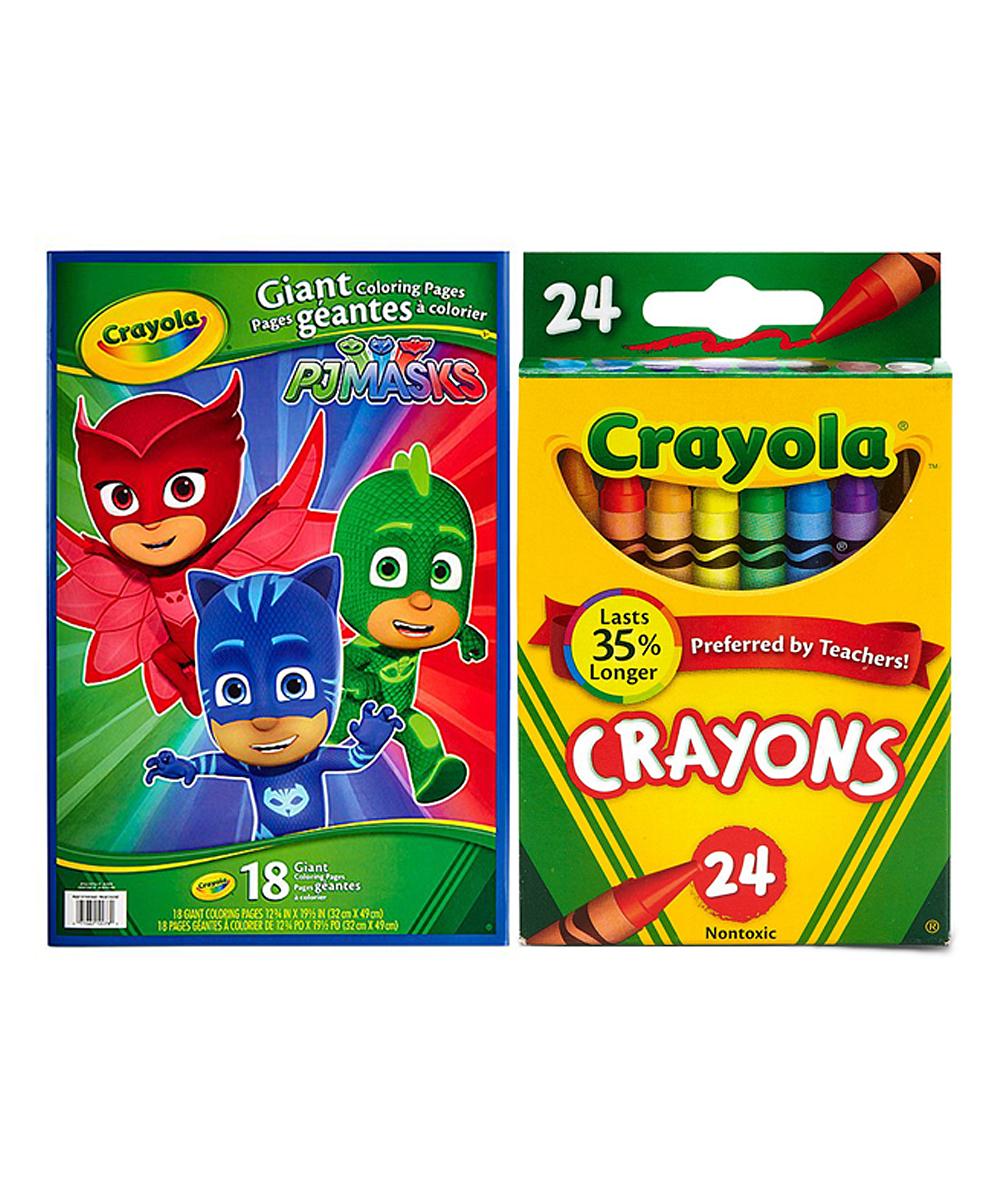 Crayola PJ Masks Giant Coloring Book & 24-Ct. Crayons Set | Zulily