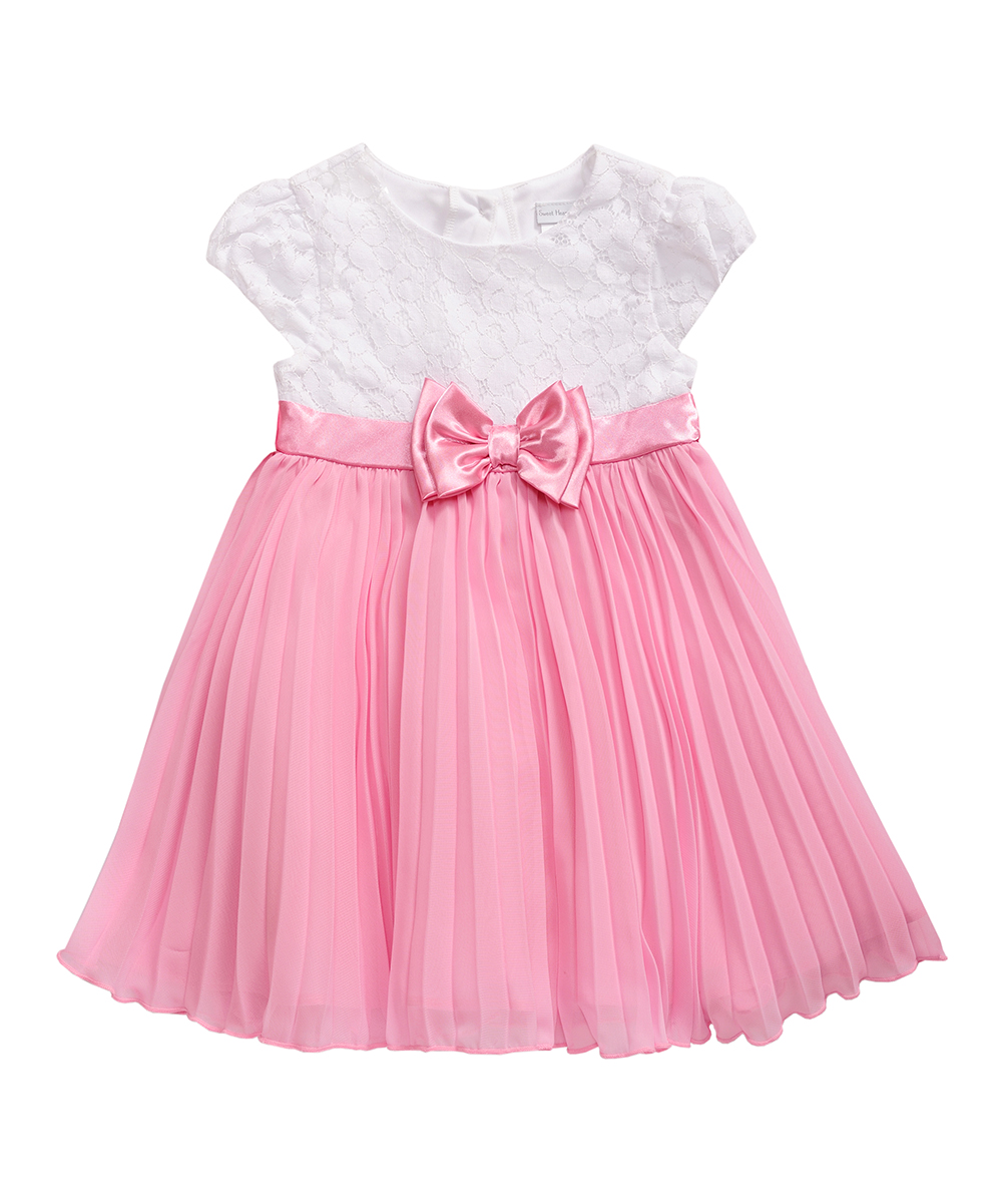 59c767adb Sweet Heart Rose White   Pink Lace-Accent A-Line Dress - Infant