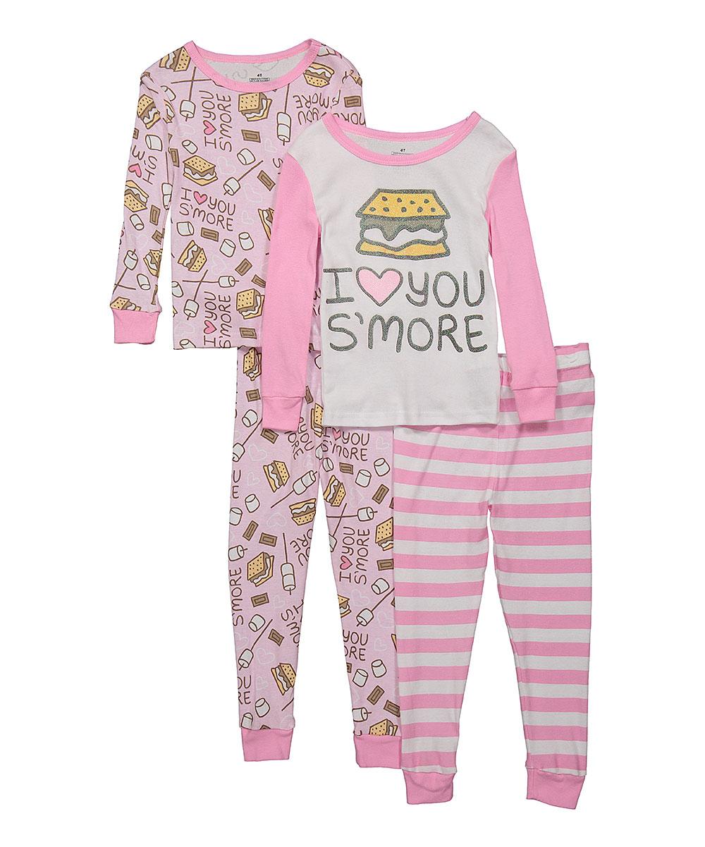 45da189249e4 Night Life Pink Love You Smore Pajama Set - Set of Two