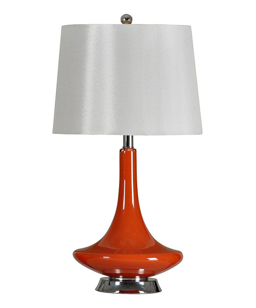 Orange Retro Glass Steel Table Lamp Zulily