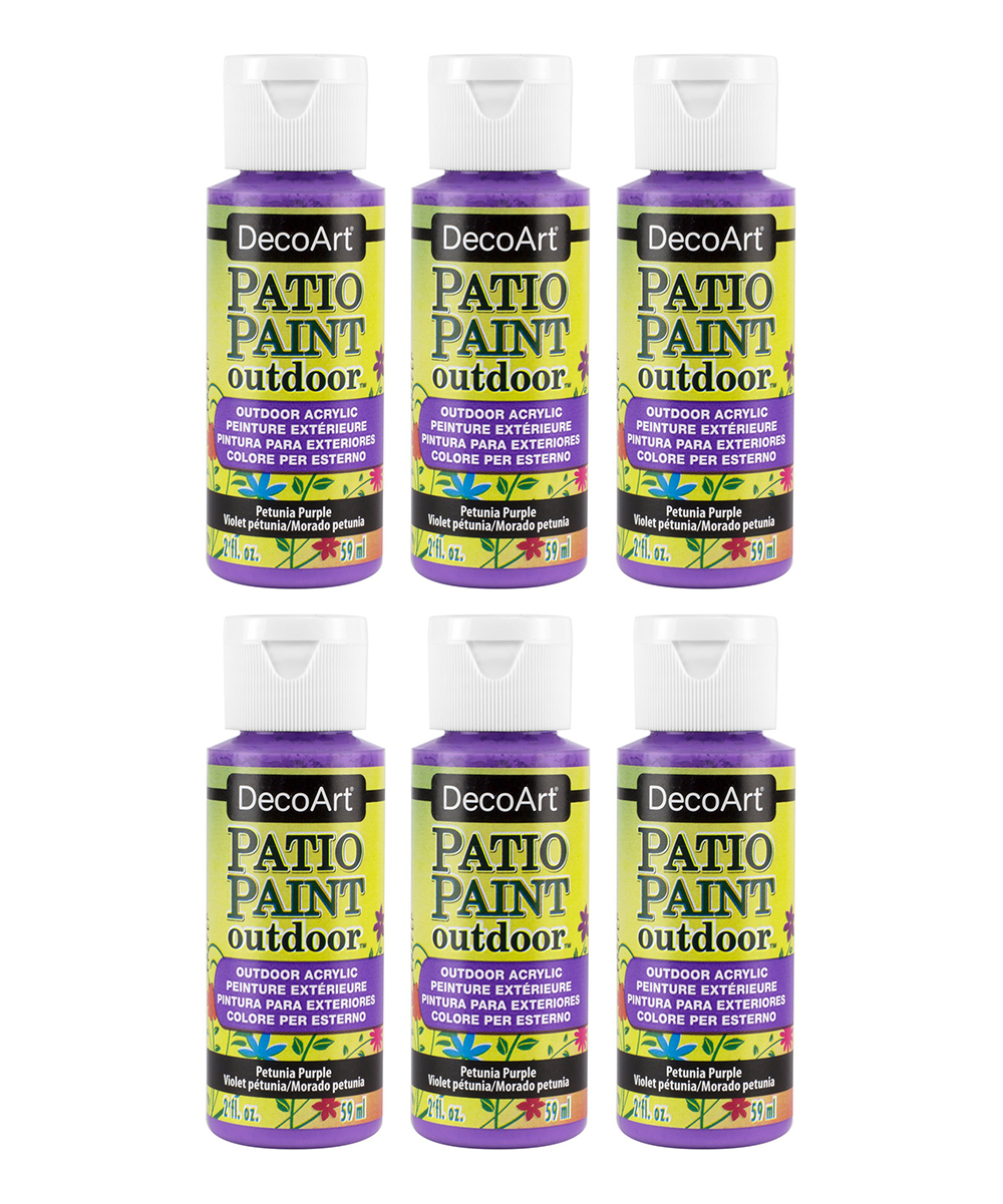Cool Decoart 2 Oz Petunia Purple Patio Paint Outdoor Acrylic Paint Set Of Six Download Free Architecture Designs Embacsunscenecom