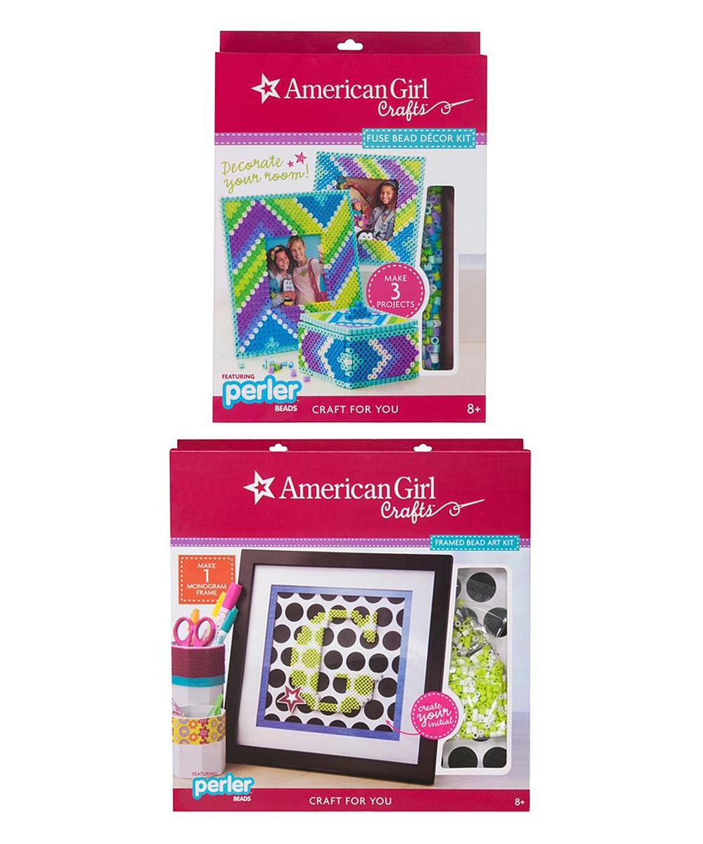 American Girl Crafts Framed Perler Art & Fuse Bead Décor Set