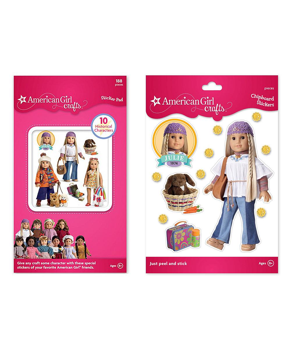 American Girl Crafts Julie Albert Chipboard Historical Dolls