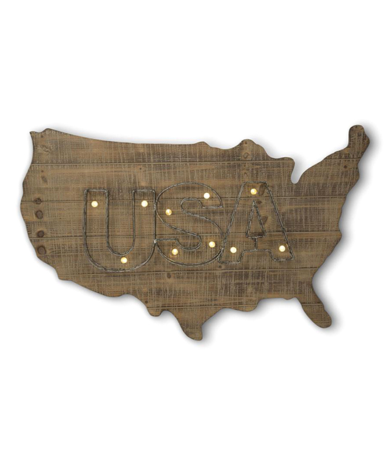 Led Usa Map Wall Art
