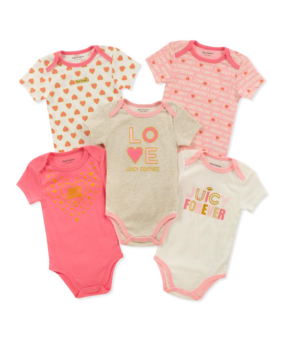 a6ac56956 Juicy Couture Pink Juicy Bodysuit Set - Newborn   Infant