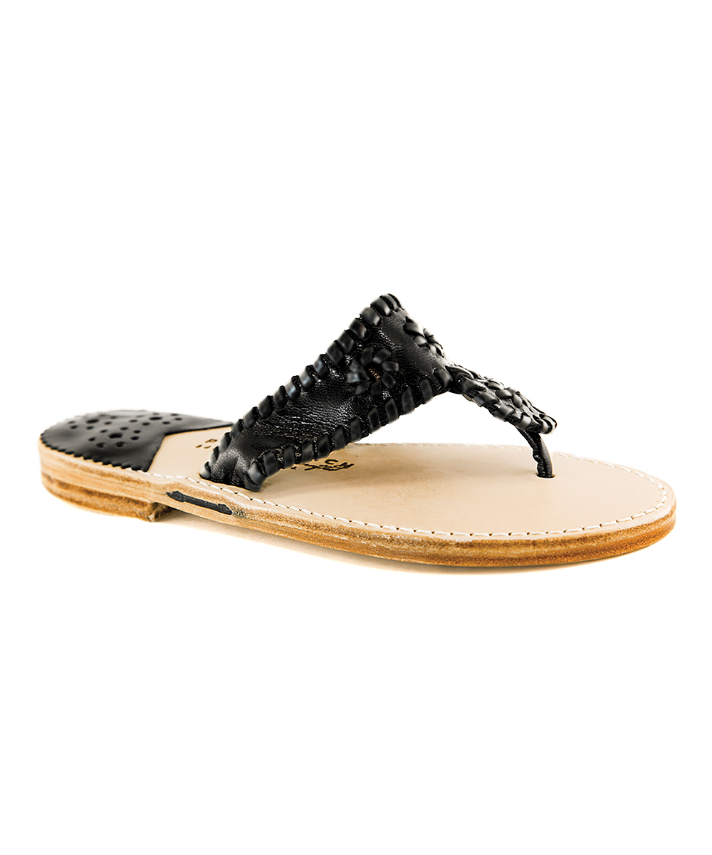 d3b99ee0cf3d3 love this product Black Patent Palm Beach Classic Leather Sandal - Women